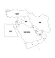 political map of middle east or near east simple vector image vector image