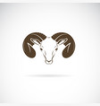 ram head or mountain sheep design on white vector image vector image