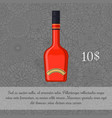 red liquor alcoholic beverage card template vector image