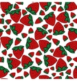 Seamless pattern strawberries berries vector image