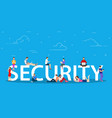 security concept people using mobile gadgets vector image