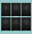 set black packaging templates with vector image vector image