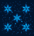 shining abstract snowflakes background vector image vector image