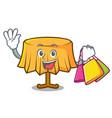 shopping table cloth character cartoon vector image