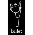 Simple ballet doodle vector image