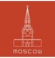 Simple line Moscow Kremlin clock tower icon vector image