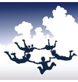 skydiving children vector image vector image