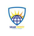 solar energy for alternative energy vector image vector image