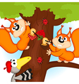 squirrel on tree vector image vector image