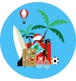 summer holiday on blue vector image vector image