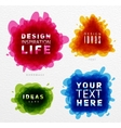 Tangled color paint vector image