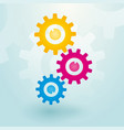 three colorful gears vector image