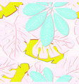 tropical pattern with leaves vector image vector image