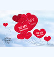 valentines day background holday poster with hand vector image