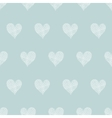 White lace hearts textile texture seamless pattern vector image vector image