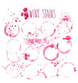 wine stains watercolor wine vector image vector image