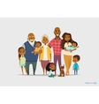 Big happy family portrait Three generations - vector image