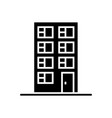 office house icon black sign vector image
