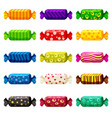 a set of colored sweets in a bright festive vector image vector image