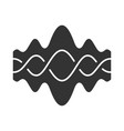 abstract fluid overlapping waves glyph icon vector image vector image
