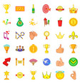 achievement icons set cartoon style vector image vector image