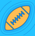 american simple football ball sand color vector image vector image