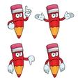 Angry cartoon pencils set vector image vector image