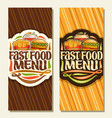 banners for fast food vector image vector image