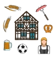 Bavarian culture and traditions icons vector image vector image
