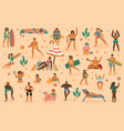beach people summertime sand beach vacation man vector image vector image