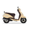 beige modern scooter flat style side view vector image vector image
