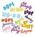 big set of hand drawn leterring phrases vector image