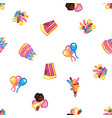 birthday pattern background sweet cake with vector image vector image