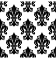 Black and white seamless fleur-de-lis pattern vector image vector image
