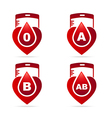 Blood typeCreative blood groups showing in a vector image vector image