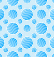 Blue polka dot pattern - abstract background vector image
