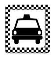 border taxi front car icon vector image vector image