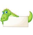 border template design with cute crocodile vector image