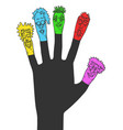 carnival color puppets vector image