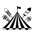 carnival tent flag rockets vector image vector image