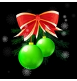 christmas ball concept vector image