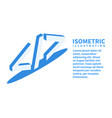 code icon isometric template in flat 3d style vector image