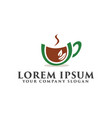 coffee green logo design concept template vector image vector image