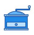 coffee grinder line icon vector image vector image