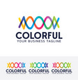 colorful logo design vector image vector image
