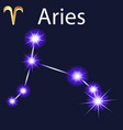 constellation aries with stars in night sky