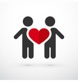 couple in love heart vector image