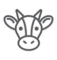 cow line icon animal and agriculture cattle sign vector image vector image