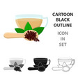 cup of tea icon in cartoon style isolated on white vector image vector image