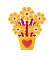 exotic fruit bouquet icon vector image vector image